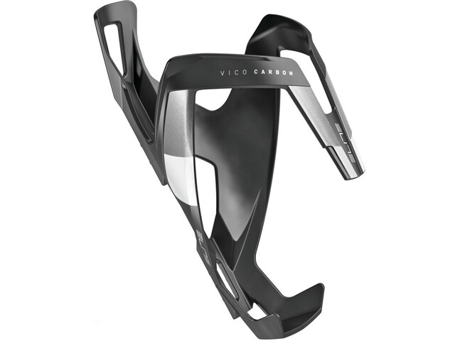 Elite Vico Bottle Holder Carbon, black matte/white